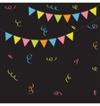 Triangle paper flags Ribbon confetti Black vector image vector image