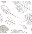 tropical leaves set pattern vector image vector image