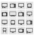 tv screens icons set vector image vector image