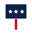 united states elections placard with stars vector image vector image