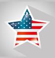 usa flag design vector image vector image