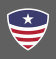 usa flag shield icon logo vector image vector image