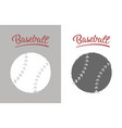 vintage baseball ball vector image vector image