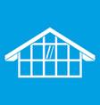 warehouse icon white vector image vector image