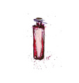 Watercolor Bordo Bottle vector image vector image