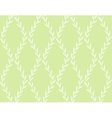 White Floral Seamless Pattern from Leaves on green vector image