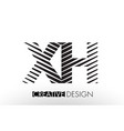 xh x h lines letter design with creative elegant vector image vector image