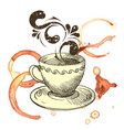 a cup of fragrant coffee vector image