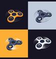 fidget spinner logos set perspective view vector image