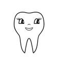 teeth smile icon vector image