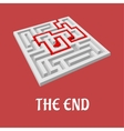 Labyrinth without exit vector image