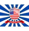 presidents day of usa flag vector image
