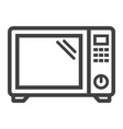 microwave oven line icon household and appliance vector image