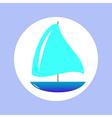 sailing ship in circle vector image