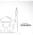Single flat icon of Mosque isolated on white vector image