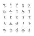 25 sport icons vector image