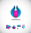 Abstract corporate flower logo icon design vector image vector image