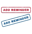 Add Reminder Rubber Stamps vector image vector image