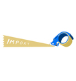 Adhesive Tape Dispenser With A Word Import vector image vector image