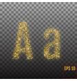 alphabet gold letter a on transparent background vector image vector image