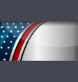 american flag color background vector image