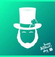 avatar of silhouette irishman happy st patricks vector image vector image