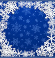 background with frame of snowflakes vector image vector image
