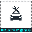 car service icon flat vector image