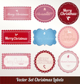 christmas frame set design vector image