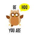 cute cartoon funny owl doodle vector image vector image