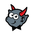 Demon with red horns Cartoon vector image