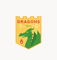 dragons medeival sports team emblem abstract vector image