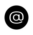 email icon in black circle e-mail symbol vector image vector image