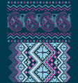 ethnic designs with embroidery effect and details vector image vector image