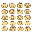 face kids draw emotion feeling icon cute cartoon v vector image