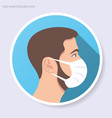 face mask required circle web icon vector image