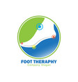 foot therapy logo vector image vector image