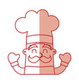 Funny chef avatar character