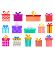 gift boxes christmas present wrapped packages vector image vector image
