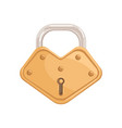gold hanging locked padlock with closed metal vector image