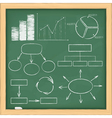 Graphs and diagrams on blackboard vector | Price: 3 Credits (USD $3)
