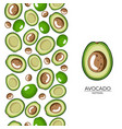 green avocado halves seamless pattern on white vector image vector image