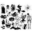 halloween set icon pictogram vektor vector image vector image