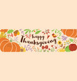 happy thanksgiving text decorated cute beautiful vector image