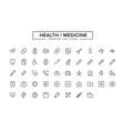 health medicine line icon set vector image vector image
