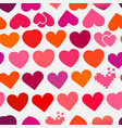 heart symbols seamless background vector image vector image