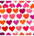 heart symbols seamless background vector image