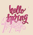 hello spring cute card vector image
