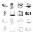 home appliances and equipment outlinemonochrome vector image