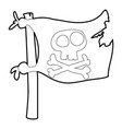 jolly roger icon outline vector image vector image
